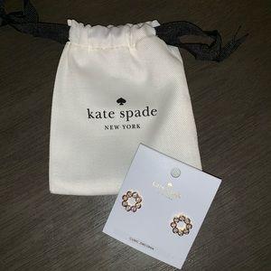 Kate Spade full circle cubic zirconia earrings.